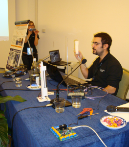 Luca Giacalone uses Wiimote to steer the car with Delphi application