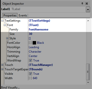 Object-Inspector-Font-Family