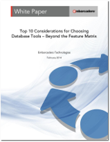 Download whitepaper: Top 10 Considerations for Choosing Database Tools